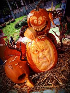 Dinnertime Pumpkins By Mike B Ozark Mo Small Pumpkin Carving Ideas