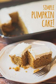 Simple Pumpkin Cake | parentpretty.com