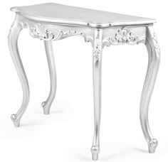 Serpentine Hall Table. A French Influenced Hall Table With Rounded Cabriole  Legs And Carving Detail