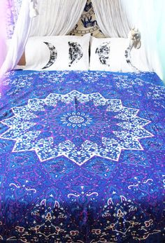 Mandala Beach Throw (Q) - Key to the Kingdom (Purple) Dream Rooms, Dream Bedroom, Girls Bedroom, Hippie Bedrooms, My New Room, My Room, College Comforter, Moroccan Bedroom, Relaxation Room