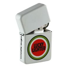 Bomblighter - Lucky Lighter.  Limited edition. Solid windproof metal lighter. Full lifetime guarantee. Comes boxed and in a tin case. Excellent collectors item. Makes an ideal gift! 6cm Tall x 4cm Wide. For more information please click the link or visit dotcombong.com.