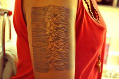 Unknown Pleasures (Joy Division album)! Wore the UP badge in school. Mmm.. tempting!