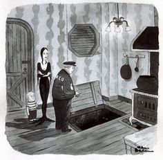 The Addams Family by Chas (Charles) Addams Addams Family Cartoon, Addams Family Quotes, Addams Family Tv Show, Addams Family Characters, Adams Family, Cartoon Familie, Charles Addams, Dark Comics, Cartoon Books