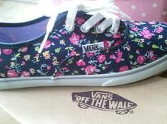 flower girly vans off the wall <3