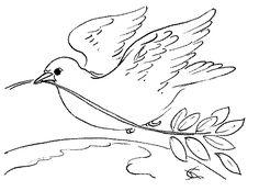 desenhos para imprimir e pintar pomba da paz
