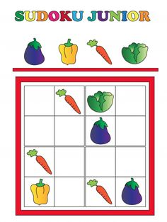 Provide your child with a little brain teaser with this free sudoku jr. On this worksheet you will find a beginner's sudoku Preschool Education, Kindergarten Activities, Activities For Kids, Elderly Activities, Dementia Activities, Physical Activities, Sudoku Puzzles, Puzzles For Kids, Farm Lessons
