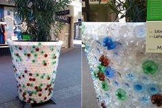 Amazing creations made with plastic bottles! Recycle Plastic Bottles, Recycled Art, Earth Day, Diy Art, Life Hacks, Planter Pots, Recycling, Arts And Crafts, Diy Projects