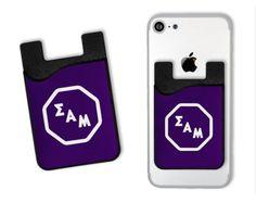 sam-octoganlogocardcaddy Sigma Alpha Mu, Free Swag, Greek Gifts, Free Buttons, Logos Cards, Pouch, Wallet, Bid Day, Day Bag