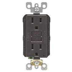 Leviton R00-GFNT1-00K 15 Amp Brown SmartlockPro Self-Test Gfci