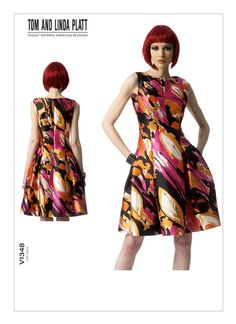 Buy Vogue Tom and Linda Platt Women's Dress Sewing Pattern, 1348 from our Sewing Patterns range at John Lewis & Partners. Vogue Patterns, Miss Dress, Dress Sewing Patterns, Sewing Ideas, Sewing Tips, Sewing Projects, Petite Dresses, Mob Dresses, Bride Dresses