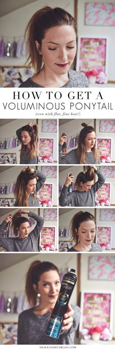 You NEED to try this super easy way to get a voluminous ponytail (even if your hair is flat and fine)! #hairstyles #ponytail #hairtutorial #longhair