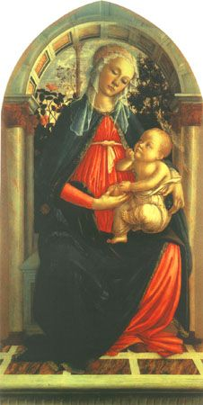 Sandro Botticelli - Madonna in the Rosegrove