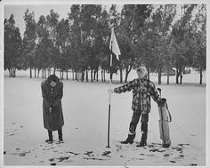 Glendale, CA Snow Golf, 1949