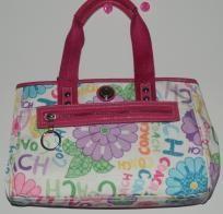 Authentic Coach Daisey Floral Handbag Pink Multicolor EUC
