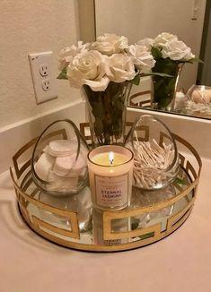 47 Guest Bathroom Makeover Ideas On A Budget - Decoration For Home Cream Bathroom, Bathroom Sets, Bathroom Tray, Bathroom Hacks, Bathroom Makeovers, Neutral Bathroom, Glass Bathroom, Bathroom Mirrors, Small Bathrooms