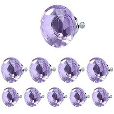 HOSL 40mm Crystal Glass Normal Diamond Shape Cabinet Knob Drawer Pull Handle Color PurplePack of 10 *** Check out the image by visiting the link.Note:It is affiliate link to Amazon.