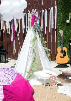 Planning a style party? Don't miss the far out elements in this gorgeous Rainbowpalooza Tie Dye Inspired Birthday Party at Kara's Party Ideas. Adult Birthday Party, Baby First Birthday, Birthday Party Decorations, Baby Shower Decorations, Birthday Ideas, Kids Party Rentals, Teepee Party, Hippie Party, Baby Party