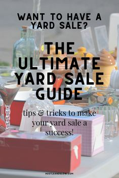Ready to have a yard sale? Find out the best tips an tricks for what to sell, how to price to make sure you make money at your yard sale. Making Money On Ebay, Make Money From Home, How To Make Money, Sell Your Stuff, Things To Sell, Yard Sale Organization, Nextdoor App, Yard Sale Signs, Garage Sale Tips