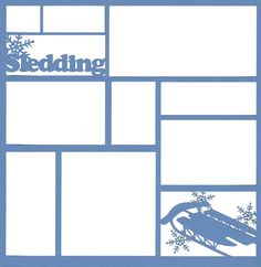 For the Future - Sledding 12 x 12 Overlay Laser Die Cut