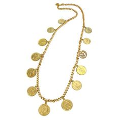 Moroccan Coin Chain Necklace