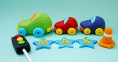 Edible Fondant Car Cake Toppers by EdibleDesignsByLetty on Etsy