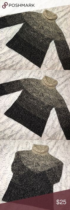 Ann Taylor wool sweater Ann Taylor 50 %wool sweater. Super cute and super soft! Ombré. Good condition Ann Taylor Sweaters Cowl & Turtlenecks