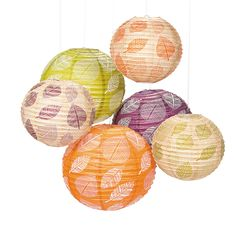 Decorate for your luau or tropical party with this stylish assortment of paper lanterns! Coming in an array of tropical colors, each paper lantern is adorned . Tropical Colors, Tropical Party, Fall Wedding Decorations, Halloween Decorations, Wedding Ideas, Wedding Stuff, Hang From Ceiling Decor, Luau Baby Showers, Hanging Paper Lanterns