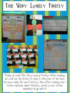 A Very Lonely Firefly by Eric Carle: great activities for fireflies