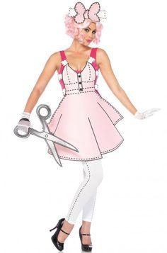 Pretty Paper Doll Adult Costume