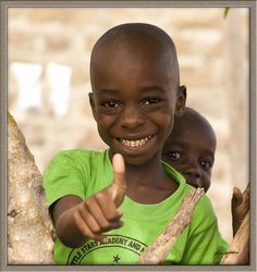 For the opportunity to study: thumbs up! Mbita, Kenya