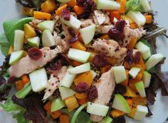 Fall Harvest Butternut Squash Chicken Salad with Maple Dressing