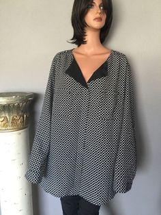 Plus Size Women Pure Energy Tunic Designer Fashion Chic Black White Gift  | eBay