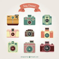 Camera vector, camera icons, photography vintage, vector