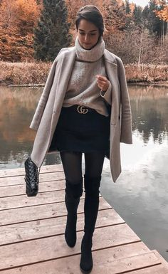 30 chic and warm winter outfits - winter fashion 2019 30 chic . - 30 chic and warm winter outfits – winter fashion 2019 30 chic and warm winter ou - Winter Outfits Women, Winter Fashion Outfits, Look Fashion, Autumn Winter Fashion, Womens Fashion, Autumn Casual, Fall Fashion, Winter Coat Outfits, Winter Style