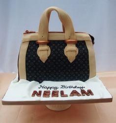 LV hand bag cake