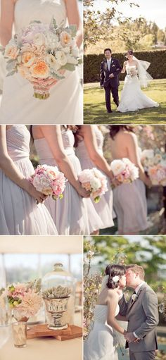 love the softness of this wedding and all the colors