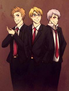 Classy boys - Hetalia awesome trio