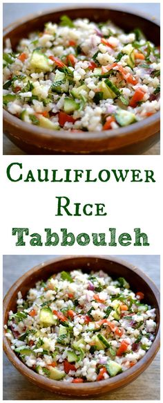 Delicious and EASY grain-free way to enjoy Tabbouleh! Took me 5 minutes to make, and less than 5 minutes to eat! Paleo, Whole 30, Gluten-Free, and Vegan.