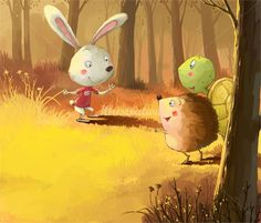 Again, attracted to this look. Love the happy eyes and expressions and colors   Xiao XIn, children's book illustrator