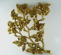2 Vintage Burwood Gold Asian Cherry Blossom by CupidsVintage, $12.00