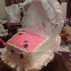 Rock a Bye Baby Carriage Cake... This website is the Pinterest of birthday cake ideas