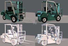Forklift Cartoon | 3D model 3d Projects, 3d Animation, 3d Printing, Cartoon, Game, Model, Engineer Cartoon, Mathematical Model