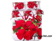 #rose #bedding #elegant Beautiful Luxurious Red Roses Print 4 Piece Bedding Sets Buy link-->http://goo.gl/LGq7BP Live a better life,start with @beddinginn