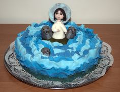 Dort inspirovaný pohádkou Píseň moře, Cake inspired by the fairy tale The song of the sea