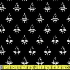 Spaced Out Alien Ship Black