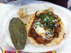 Gringa en Jalpan de Serra, Queretaro Mexico Gringas; isnt only used to describe american women, but also a very beloved street staple. Its usually made with flour tortilla, al pastor meat and a lot of cheese. Add some cilantro, onions, lime and salsa and EAT!