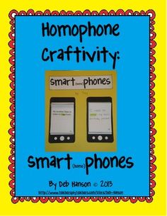 Homophone Craftivity: Smartphones (includes 2 versions for