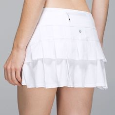 Lululemon ruffle running skort This Lululemon ruffle running skirt is so cute you can wear it to brunch after a jog and look fashionable. NWOT - never worn. lululemon athletica Skirts