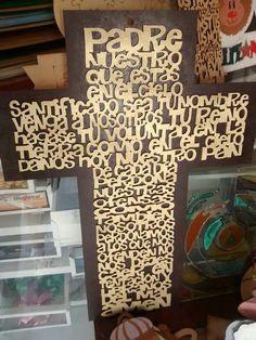 Cruz padre nuestro MDF $150