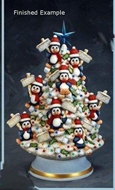 Polymer Clay Christmas, Ceramic Christmas Trees, Christmas Ornaments, Xmas Trees, Ready To Paint Ceramics, Hand Painted Ceramics, Biscuit, Ceramic Bisque, Ceramic Painting